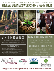 BattleGround FREE Agriculture Workshop @ Williamson County EMS - North Training Room | Georgetown | Texas | United States